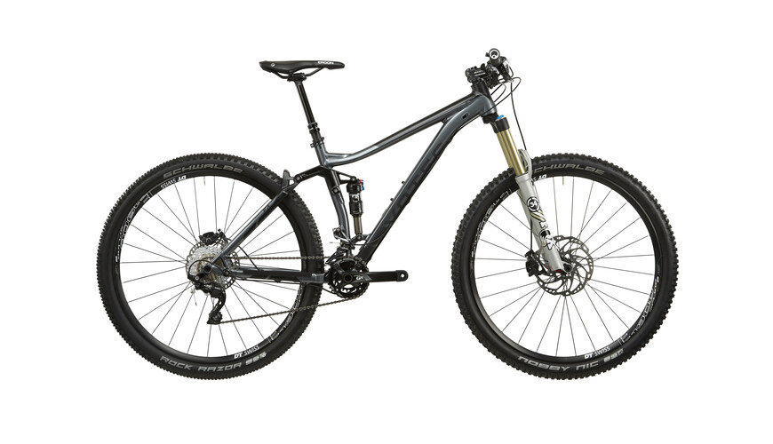 "VOTEC VX Comp Touren/Trail Fullsuspension Heldämpad MTB 29"" grå/svart"